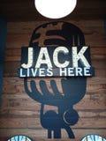 Jack leeft hier stock afbeelding