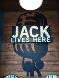 Jack lives here stock image