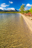 Jack London Lake. Autumn lake in the mountains of Big Ridge Anngachag Royalty Free Stock Photography