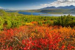 Jack London Lake. Autumn lake in the mountains of Big Ridge Anngachag Royalty Free Stock Image