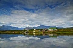 Jack London's湖 小房子的海岛 反映 库存照片