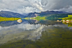 Jack London's lake. Summer, reflexions Royalty Free Stock Photography