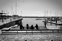 Jack London square, USA. Friends coffee time Stock Photo