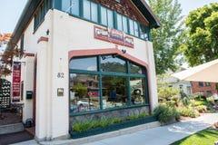 Jack Mormon Coffee Co a Salt Lake City, l'Utah fotografia stock libera da diritti
