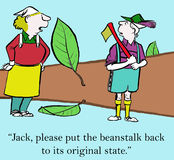 Jack nel gambo di una pianta di fagioli Immagine Stock Libera da Diritti
