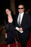 Jack Nicholson,Lara Flynn Boyle. Actor JACK NICHOLSON & actress girlfriend LARA FLYNN BOYLE at the world premiere, in Hollywood, of his new movie The Pledge Royalty Free Stock Photo