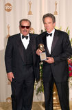 Jack Nicholson, Warren Beatty fotos de stock royalty free