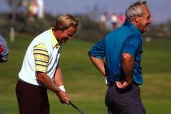 Jack Nicklaus en Arnold Palmer, PGA-legenden Stock Foto
