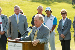 Jack Nicklaus at the Memorial Tournament royalty free stock photography
