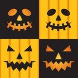 Jack o bani latarniowe twarze dla Halloween Obraz Stock