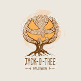 Jack-O-Baum - Halloween-Vektor Lizenzfreies Stockfoto