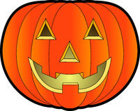 Jack-o-lantern_01. Raster cartoon graphic depicting a Halloween Jack-o'-Lantern Royalty Free Stock Images