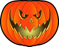 Jack-o-lantern_02. Raster cartoon graphic depicting a Halloween Jack-o'-Lantern Royalty Free Stock Image