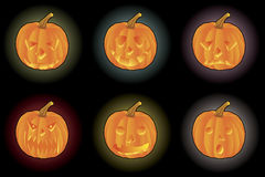 Jack-o lantern. Vector illustration of Jack-o lantern, Halloween design element Royalty Free Stock Photo