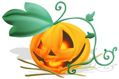 Jack-o-lantern. Evil jack-o-lantern.clipping path included Stock Images