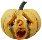 Jack-o-lantern. Isolated Halloween pumpkin with clip path stock photos