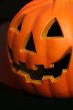 Jack o lantern. Halloween face carved in a jack o lantern Stock Photo