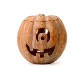 Jack-o-lantern. Carved pumpkin jack-o-lantern for halloween Stock Photo