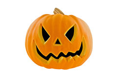 Jack-o-lantern. Isolated on a white background with clipping path Stock Photos