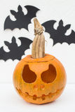 Jack O`Lantern and Bats Royalty Free Stock Image