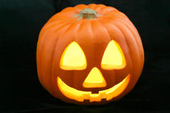 Jack-O-Lantern on Black Royalty Free Stock Image