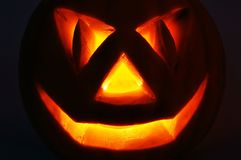 Jack O Lantern on the black Royalty Free Stock Images