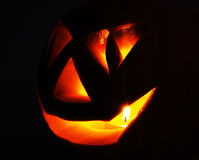 Jack O Lantern on the black Stock Photo