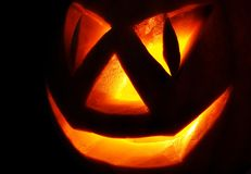 Jack O Lantern on the black Royalty Free Stock Photography