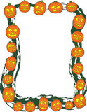 Jack O Lantern Border Royalty Free Stock Photos