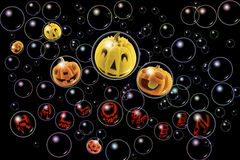 Jack o'lantern in the bubble. Royalty Free Stock Image