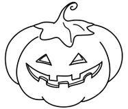 Jack-o-lantern bw Stock Image