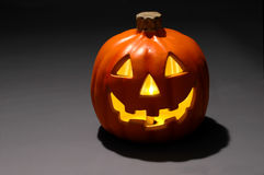 Jack-o-lantern with Candle Stock Image