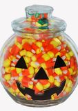 Jack O' Lantern Candy Jar Royalty Free Stock Image