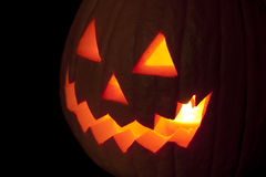 Jack o'Lantern close up. A close up of the carved face of a pumpkin for Halloween Royalty Free Stock Image