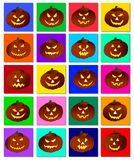 Jack-o-lantern collection Stock Image