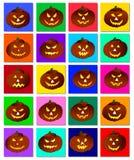 Jack-o-lantern Collection Stock Image