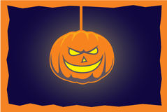 Jack o lantern. Comic  halloween pumpkin image Stock Photos