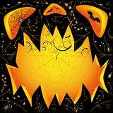 Jack O Lantern dark face Royalty Free Stock Photos