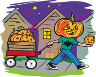 Jack O Lantern Delivery Royalty Free Stock Photo