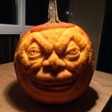 Jack o lantern. Detailed carved pumpkin for halloween Stock Images
