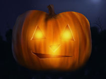 Jack O' Lantern - Digital Painting. Illustration of a glowing jack o' lantern Royalty Free Stock Image