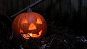 Jack o lantern errie background. Royalty Free Stock Photos