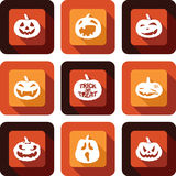 Jack O lantern faces Icon set Royalty Free Stock Images