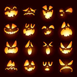 Jack O Lantern faces Royalty Free Stock Image