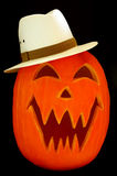 Jack O Lantern Fedora Royalty Free Stock Photography