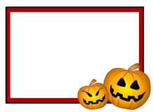 Jack-O-Lantern Frame Border Stock Photo