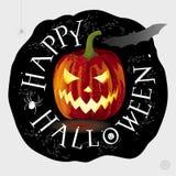 Jack-o-lantern greeting card Stock Photo