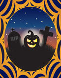 Jack o Lantern Halloween Graveyard Illustration Stock Images