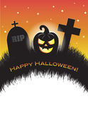 Jack o Lantern Halloween Graveyard Stationary Royalty Free Stock Photos