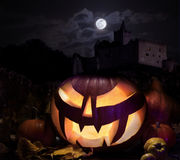 Jack o'Lantern on Halloween night Stock Image